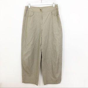 LILITH High Rise Crepe Crop Wide Leg Pants Size L